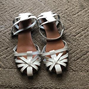 Shoes - White leather sandals